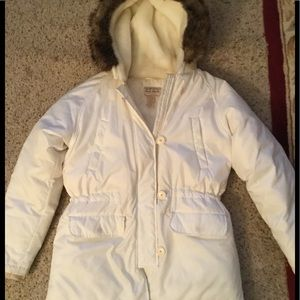 RALPH LAUREN POLO JEANS WHITE PUFFER COAT JACKET